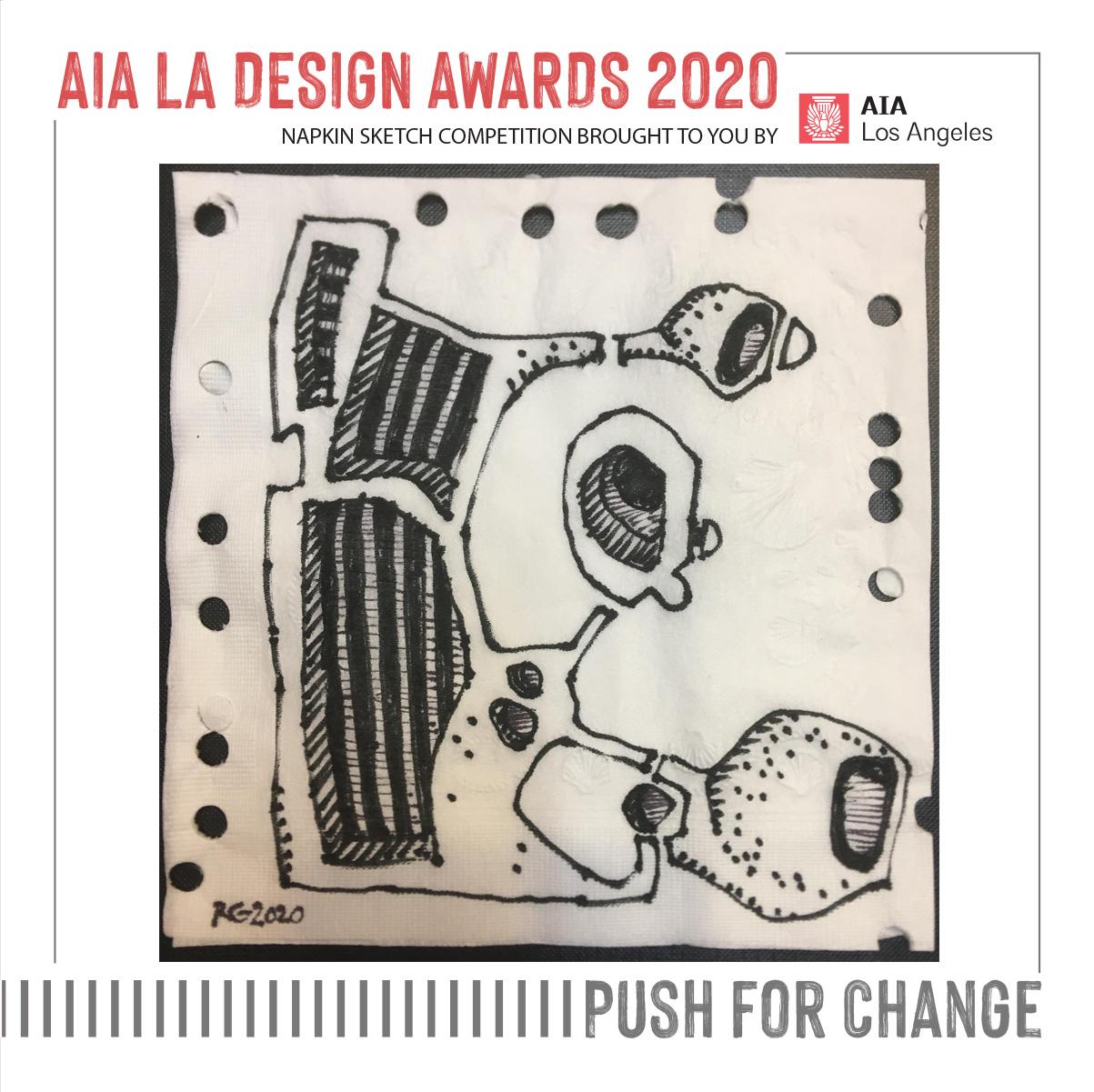 Napkin Sketch for AIA|LA Design Awards