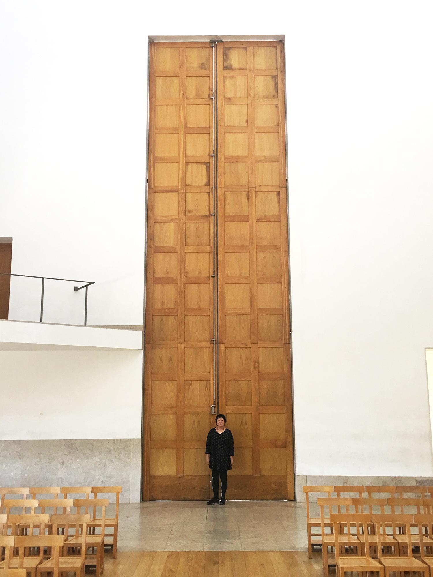Entry Door at Santa Maria Church by Alvaro Siza